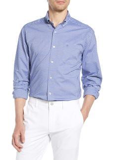 Southern Tide Horizontal Stripe Regular Fit Button-Up Shirt