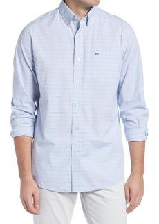 Southern Tide Space Dye Gingham Check Button-Down Shirt