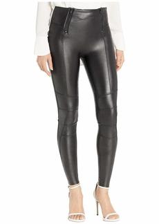 Spanx Faux Leather Hip-Zip Leggings