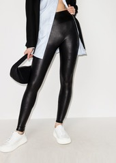 Spanx faux-leather mid-rise leggings