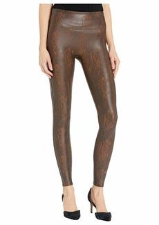 Spanx Faux Leather Snakeskin Leggings