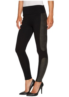 Spanx Panel Leather Ponte Leggings