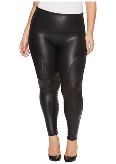 Spanx Plus Size Faux Leather Moto Leggings