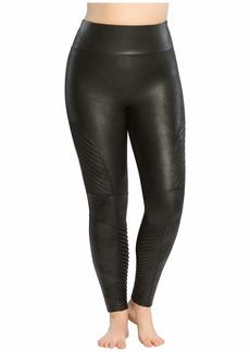 Spanx Plus Size Faux Leather Moto Leggings