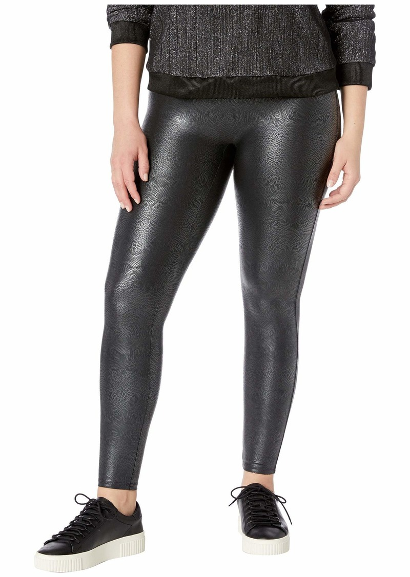 82ac345ad8c Spanx Plus Size Faux Leather Pebbled Leggings