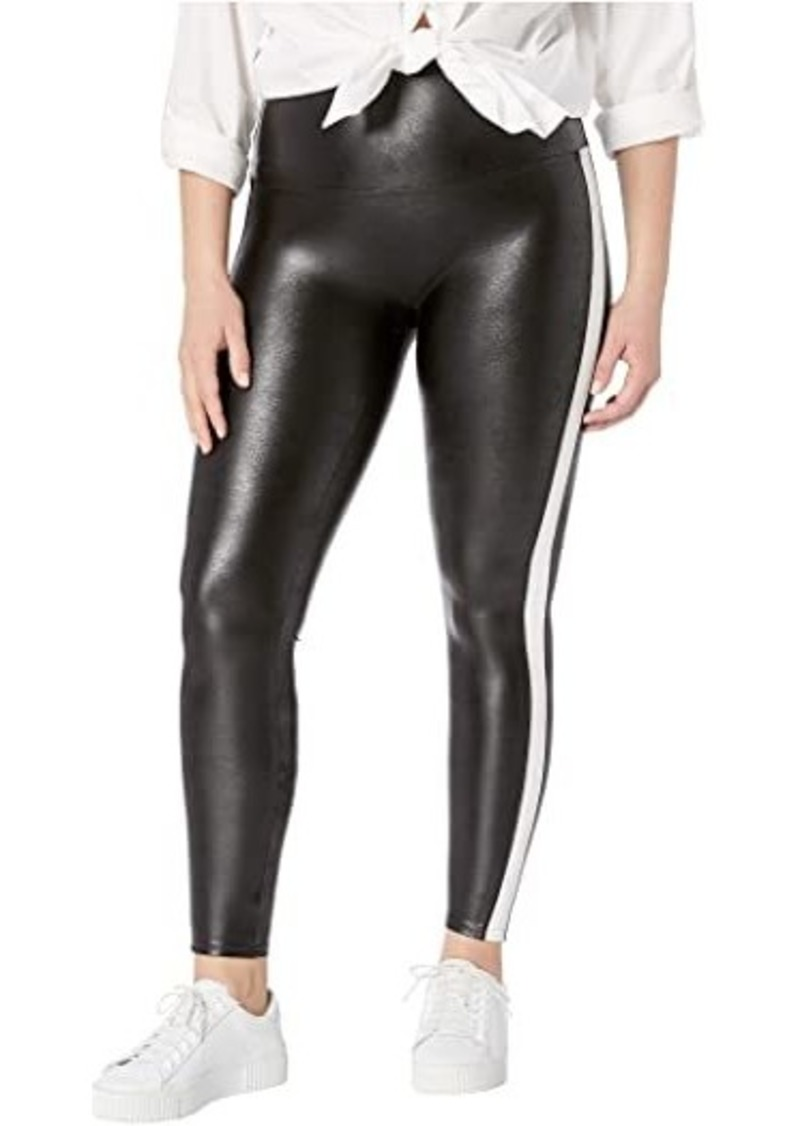 Spanx Plus Size Faux Leather Side Stripe Leggings