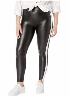 Spanx Plus Size Faux Leather Side Stripe Leggings