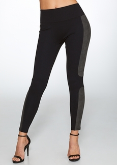 SPANX + Faux Leather Panel Ponte Leggings