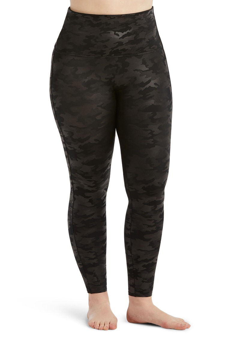 SPANX® Camo Faux Leather Leggings (Plus Size)