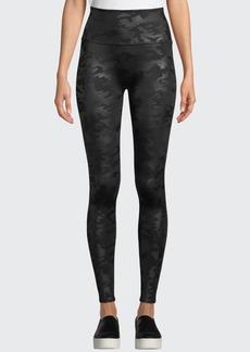 Spanx Camo-Print Faux-Leather Leggings
