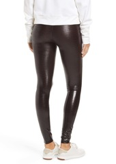 SPANX® Croc Embossed High Waist Faux Leather Leggings