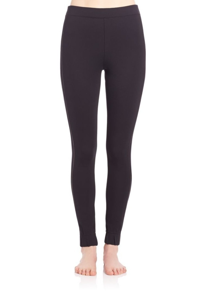 Spanx Cropped Track Leggings