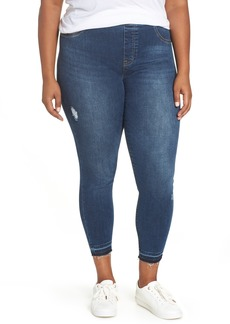 SPANX® Distressed Denim Leggings (Plus Size)