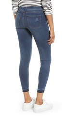 SPANX® Distressed High Waist Ankle Denim Leggings