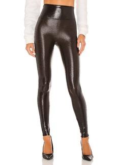 SPANX Faux Leather Croc Leggings