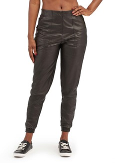 SPANX® Faux Leather Jogger Pants