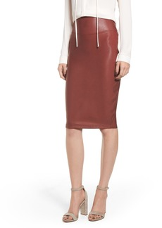 SPANX® Faux Leather Pencil Skirt