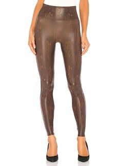 SPANX Faux Leather Snakeskin Legging