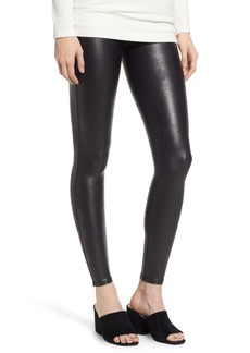 SPANX® High Waist Faux Leather Leggings (Petite)