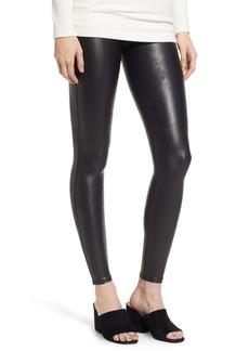 SPANX® High Waist Faux Leather Leggings (Petite)