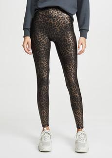 SPANX Leopard Shine Faux Leather Leggings