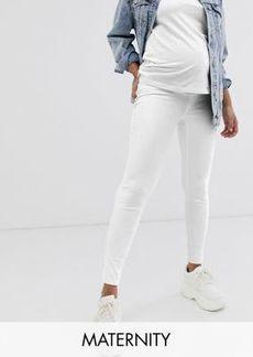 Spanx Mama ankle grazer jeggings in white