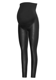 SPANX® Mama Faux Leather Maternity Leggings
