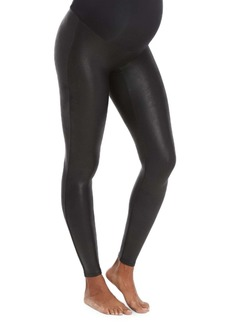 SPANX® Mama Faux Leather Maternity Leggings