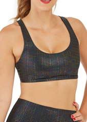 SPANX® Metallic Dot Print Low Impact Sports Bra