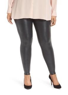 SPANX® Pebbled Faux Leather Leggings (Plus Size)