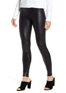 SPANX® Quilted Faux Leather Leggings