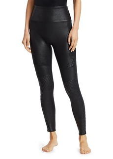 Spanx Quilted Leather-Look Leggings