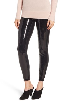 SPANX® Sequin Faux Leather Leggings