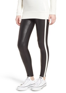 SPANX® Side Stripe Faux Leather Leggings