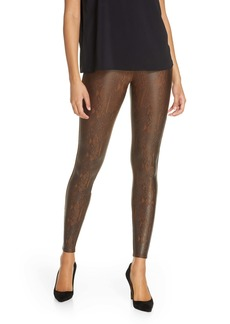 SPANX® Snake Print Faux Leather Leggings