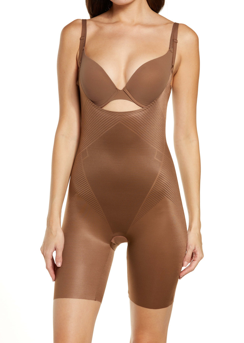 SPANX® Thinstincts 2.0 Open Bust Mid-Thigh Shaper Bodysuit