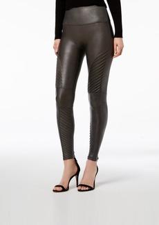 Spanx Women's Faux-Leather Moto Tummy Control Leggings