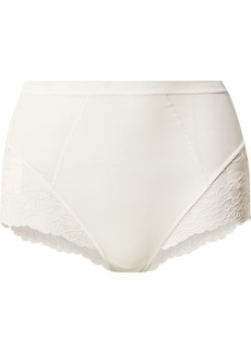 Spanx Spotlight Stretch-tulle And Lace Briefs