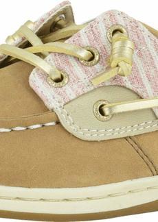 Sperry Top-Sider Girls' Songfish Boat Shoe Linen Oat/Beach Stripe