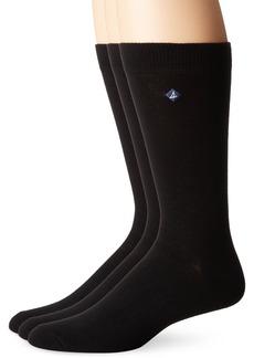 Sperry Top-sider Men's 3 Pack Casual Crew Socks black/Multi Sock Size: 10-13/Shoe Size:9-11