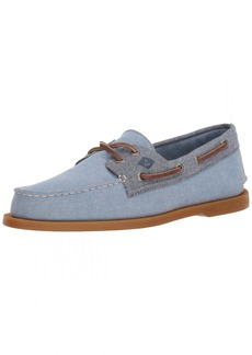 Sperry Top-Sider Men's A/O 2-Eye Chambray Boat Shoe  10 Medium US