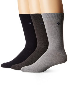 Sperry Top-Sider Men's Marl Crew 3 Pk  Sock Size: 10-13/Shoe Size:9-11