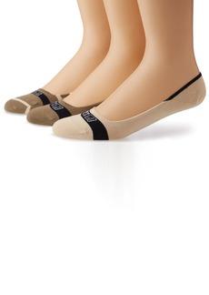 Sperry Top-Sider Men's Signature Insivisble Striped 3 Pair Pack Liner Socks  Medium/Large(Shoe Size 9.5-13)