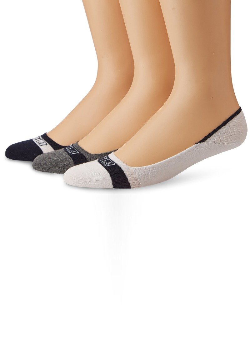 Sperry Top-Sider Men's Signature Invisible Solid 3 Pair Pack Liner Socks  Medium/Large(Shoe Size 9.5-13)