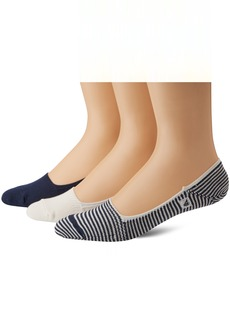 Sperry Top-Sider Men's Skimmers Feed Stripe 3 Pair Pack Liner Socks  10-13 (Shoe Size 6-12)