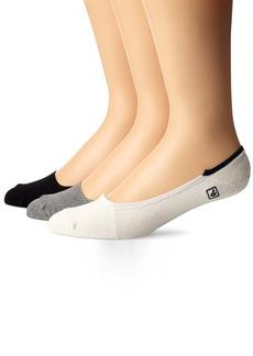 Sperry Top-Sider Men's Skimmers Solid 3 Pair Pack Liner Socks  10-13 (Shoe Size 6-12)