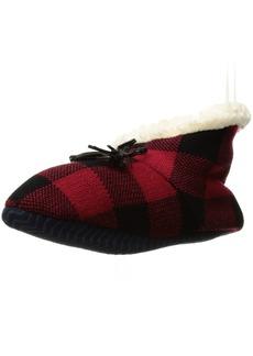 Sperry Top-Sider Women's Buffalo Plaid Sherpa Slipper Sock  Small/Medium