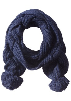 Sperry Top-Sider Women's Double Braided Scarf with Poms