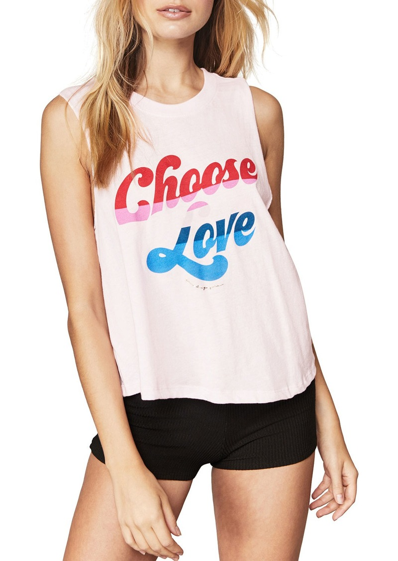 Spiritual Gangster Choose Love Cropped Graphic Tank