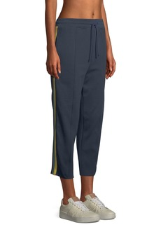 Spiritual Gangster Cropped Side-Stripe Track Pants